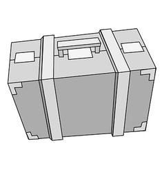 suitcase steel vector image