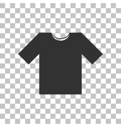 T-shirt sign Dark gray icon on vector image vector image