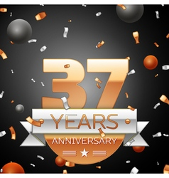 Thirty seven years anniversary celebration vector