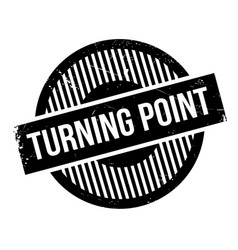 Turning point rubber stamp vector