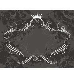 vintage floral frame with grunge background vector image