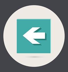 web arrow vector image