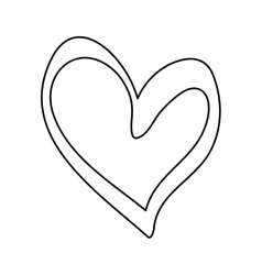 Heart scribble draw vector image