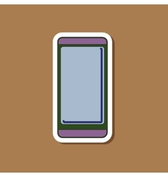 Paper sticker on background of mobile phone vector
