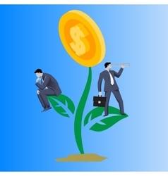 Growing profit business concept vector