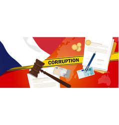 france corruption money bribery financial law vector image