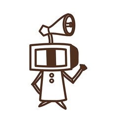 Television robot vector