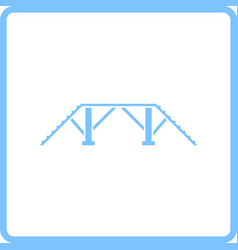 Dog training bench icon vector
