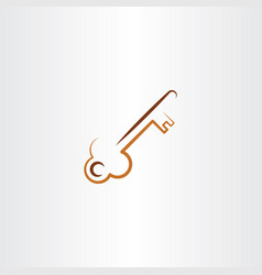 old skeleton key icon vector image