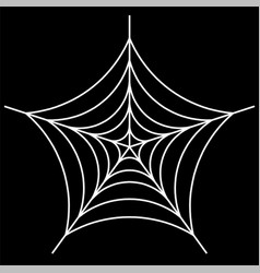 White spider on background vector