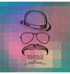vintage man elements vector image
