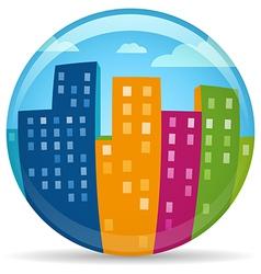 Globe City vector image