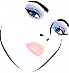 Beauty girl vector