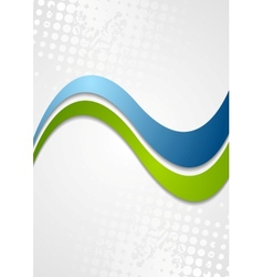Abstract corporate wavy grunge background vector image