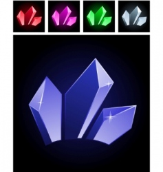 Stylized gems vector