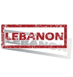 Lebanon outlined stamp vector