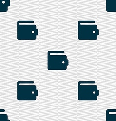 Purse icon sign seamless pattern with geometric vector