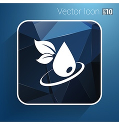 Leaf icon symbol nature sign element vector
