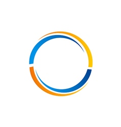 Circle rotation color logo vector