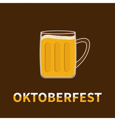 Oktoberfest big beer glass mug vector