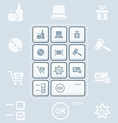 shopping keyboard vector image