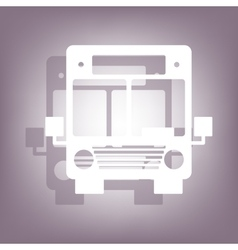 Bus icon with shadow vector