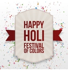 Happy holi festival of color vertical banner vector