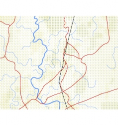 Halftone map vector