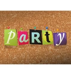 Party concept vector