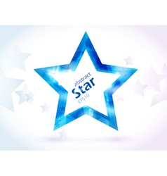 abstract blue star vector image