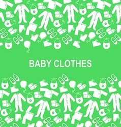 Baby clothes back green vector