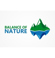 Balance of nature mountain and iceberg vector