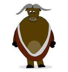 Bull yak character vector image vector image