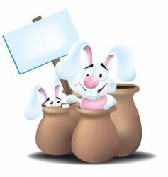 bunnies in jars vector image vector image