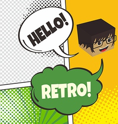 comic template element with speech bubble and vector image