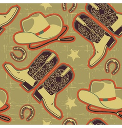 Cowboy seamless pattern for backgroundvintage vector