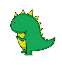 cute cartoon dinosaur vector image vector image
