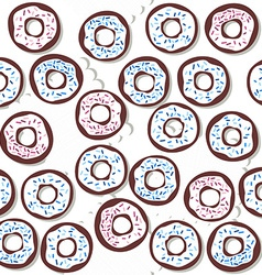 donutswithbluesprinklessponwhite vector image