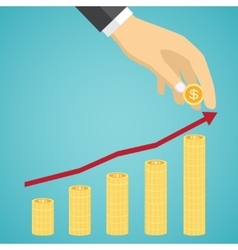 Financial growth concept vector