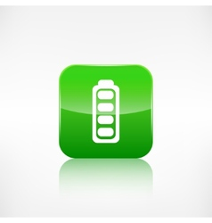 Full battery icon application button vector