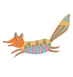 Funny fox vector image
