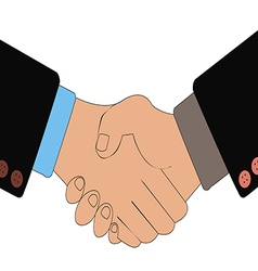 Handshake of business people as a result of vector