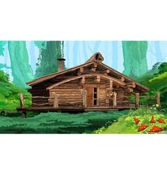 Hut in the woods vector