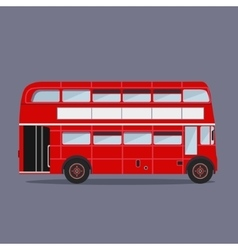 London buses colored silhouette vector