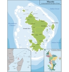 Map of mayotte vector