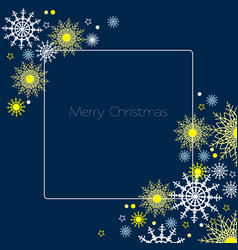 merry christmas background ornament with vector image vector image