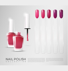 realistic cosmetic nail polish set vector image