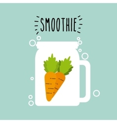 Smoothie juice icon vector