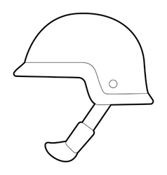 Soldier helmet icon outline style vector