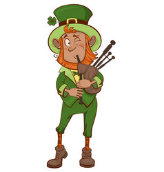 st patricks day man musician and bagpipes vector image